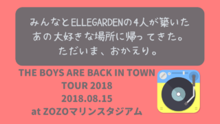 THE BOYS ARE BACK IN TOWN TOUR 2018 ニャムレットの晴耕雨読